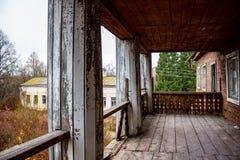 Εγκαταλειμμένο κτήμα Kudryavtsev στο χωριό Panskoe, 19ος αιώνας, Ρωσία στοκ εικόνες με δικαίωμα ελεύθερης χρήσης
