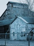 Εγκαταλειμμένο μπλε Steelmill που τονίζεται Στοκ φωτογραφία με δικαίωμα ελεύθερης χρήσης