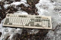 Εγκαταλειμμένο πληκτρολόγιο υπολογιστών Στοκ Φωτογραφίες