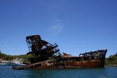 εγκαταλειμμένο σκάφος Στοκ Εικόνες