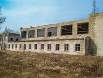 Εγκαταλειμμένο σπίτι ή objekts στα ruines Στοκ Εικόνες