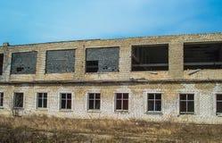 Εγκαταλειμμένο σπίτι ή objekts στα ruines Στοκ Εικόνα
