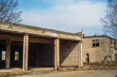 Εγκαταλειμμένο σπίτι ή objekts στα ruines Στοκ εικόνα με δικαίωμα ελεύθερης χρήσης