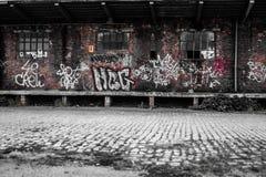 εγκαταλειμμένο τραίνο σταθμών Στοκ εικόνα με δικαίωμα ελεύθερης χρήσης