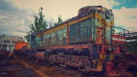 Εγκαταλειμμένο τραίνο στοκ εικόνα