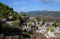 Εγκαταλειμμένο χωριό Kayakoy, Τουρκία Στοκ Εικόνες