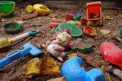 εγκαταλειμμένο sandbox Στοκ φωτογραφία με δικαίωμα ελεύθερης χρήσης