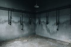 Εγκαταλελειμμένα ντους - εγκαταλειμμένα εργοστάσιο επεξεργασίας σιδήρου & ορυχείο - Νέα Υόρκη στοκ φωτογραφία