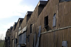 εγκαταλελειμμένο εργοστάσιο κτηρίων Στοκ Φωτογραφίες