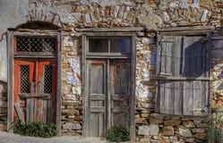 Εγκαταλελειμμένο παλαιό κτήριο Φωτογραφία εικονικής παράστασης πόλης στοκ φωτογραφία με δικαίωμα ελεύθερης χρήσης