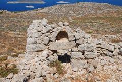 Εγκαταλελειμμένο παρεκκλησι στο νησί Halki Στοκ Εικόνες