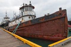 εγκαταλελειμμένο σκάφ&omic Στοκ Εικόνα