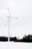 Εγκαταστάσεις αιολικής ενέργειας στην πεδιάδα χιονιού Στοκ φωτογραφίες με δικαίωμα ελεύθερης χρήσης