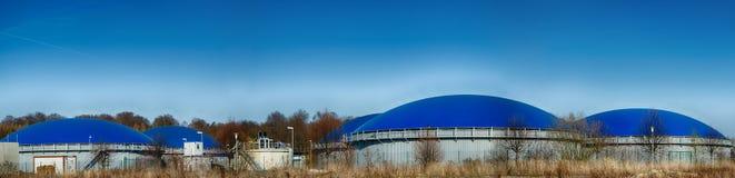 Εγκαταστάσεις βιοαερίων βιοαερίων Στοκ Φωτογραφία