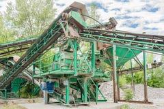 Εγκαταστάσεις για την εξαγωγή αμμοχάλικου Στοκ εικόνες με δικαίωμα ελεύθερης χρήσης