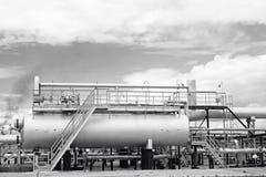 Εγκαταστάσεις εγκαταστάσεων καθαρισμού αερίου Στοκ φωτογραφίες με δικαίωμα ελεύθερης χρήσης