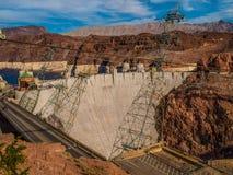 Εγκαταστάσεις ηλεκτρικής δύναμης φραγμάτων Hoover Στοκ Εικόνα