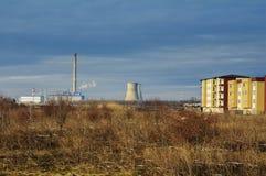 Εγκαταστάσεις ηλεκτρικής δύναμης Στοκ Εικόνα