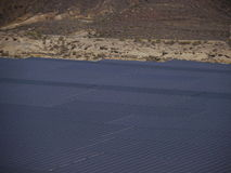 Εγκαταστάσεις ηλιακής ενέργειας ερήμων Στοκ εικόνα με δικαίωμα ελεύθερης χρήσης