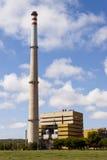 Εγκαταστάσεις θερμικής παραγωγής ενέργειας Foix Cubelles, Βαρκελώνη, Ισπανία Στοκ Φωτογραφίες