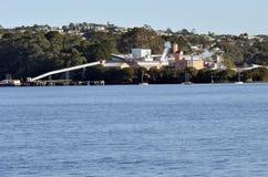 Εγκαταστάσεις καθαρισμού ζάχαρης της Chelsea - Ώκλαντ Νέα Ζηλανδία στοκ εικόνες
