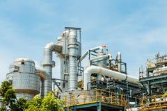 Εγκαταστάσεις καθαρισμού πετρελαίου Στοκ εικόνες με δικαίωμα ελεύθερης χρήσης