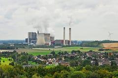 Εγκαταστάσεις παραγωγής ενέργειας άνθρακα Στοκ Εικόνες