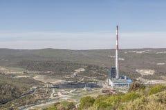 Εγκαταστάσεις παραγωγής ενέργειας άνθρακα Plomin Στοκ Εικόνα
