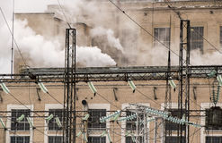 Εγκαταστάσεις παραγωγής ενέργειας στην εργασία Στοκ εικόνες με δικαίωμα ελεύθερης χρήσης