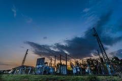 Εγκαταστάσεις παραγωγής ενέργειας στο πανεπιστήμιο Στοκ Φωτογραφίες