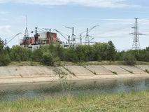 Εγκαταστάσεις παραγωγής ενέργειας του Τσέρνομπιλ στοκ φωτογραφίες