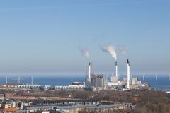 Εγκαταστάσεις παραγωγής ενέργειας Amager στην Κοπεγχάγη, Δανία Στοκ φωτογραφία με δικαίωμα ελεύθερης χρήσης