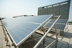 Εγκαταστάσεις παραγωγής ενέργειας PV Στοκ εικόνα με δικαίωμα ελεύθερης χρήσης