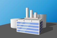 Εγκαταστάσεις παραγωγής εργοστασίων βιομηχανίας εικονιδίων Στοκ εικόνα με δικαίωμα ελεύθερης χρήσης
