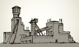 Εγκαταστάσεις στο ορυχείο r διανυσματική απεικόνιση