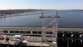 Εγκαταστάσεις υδρο παραγωγής ενέργειας στον ποταμό, copter βλαστός φιλμ μικρού μήκους