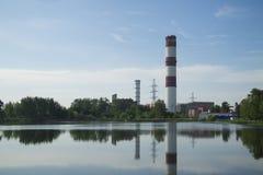 Εγκαταστάσεις υδροηλεκτρικής ενέργειας σε Elektrogorsk στοκ εικόνα με δικαίωμα ελεύθερης χρήσης