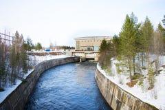 Εγκαταστάσεις υδρο παραγωγής ενέργειας Στοκ Φωτογραφία