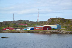 Εγκαταστάσεις ψαριών στην τράπεζα της Θάλασσας του Μπάρεντς Περιοχή του Μούρμανσκ Στοκ εικόνα με δικαίωμα ελεύθερης χρήσης