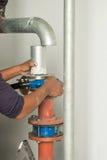 Εγκαταστήστε τη μάνικα υψηλού νερού στοκ φωτογραφίες με δικαίωμα ελεύθερης χρήσης