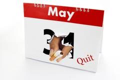 εγκαταλείψτε τον καπνό Στοκ Εικόνα