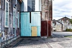 Εγκαταλειμμένα βιομηχανικά κτήρια Στοκ εικόνα με δικαίωμα ελεύθερης χρήσης