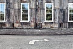 Εγκαταλειμμένα βιομηχανικά κτήρια Στοκ Φωτογραφία