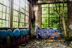 Εγκαταλειμμένα γκράφιτι Στοκ φωτογραφία με δικαίωμα ελεύθερης χρήσης