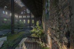 Εγκαταλειμμένα κτήρια ορυχείων στο Βέλγιο Στοκ Εικόνες