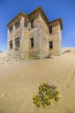 Εγκαταλειμμένα σπίτια σε Kolmanskop, Ναμίμπια Στοκ Φωτογραφία