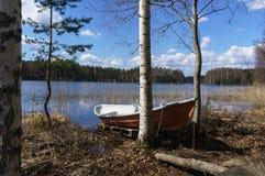 εγκαταλειμμένη λίμνη βαρ&kapp Στοκ Εικόνες