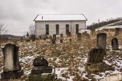 Εγκαταλειμμένη αγροτική εκκλησία - νοτιοδυτική Πενσυλβανία Στοκ Εικόνα