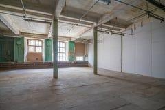 Εγκαταλειμμένη αποθήκη εμπορευμάτων Στοκ εικόνα με δικαίωμα ελεύθερης χρήσης