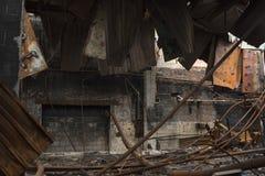 εγκαταλειμμένη αποθήκη εμπορευμάτων Στοκ φωτογραφίες με δικαίωμα ελεύθερης χρήσης